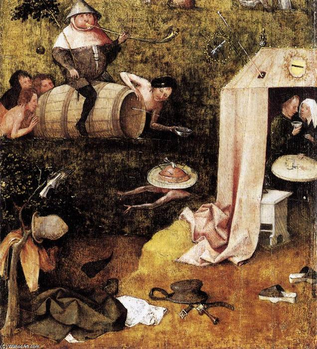 Allegory of Gluttony and Lust, Oil On Panel by Hieronymus Bosch (1450-1516, Netherlands)