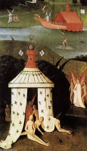 Hieronymus Bosch - Last Judgment (fragment of Paradise)