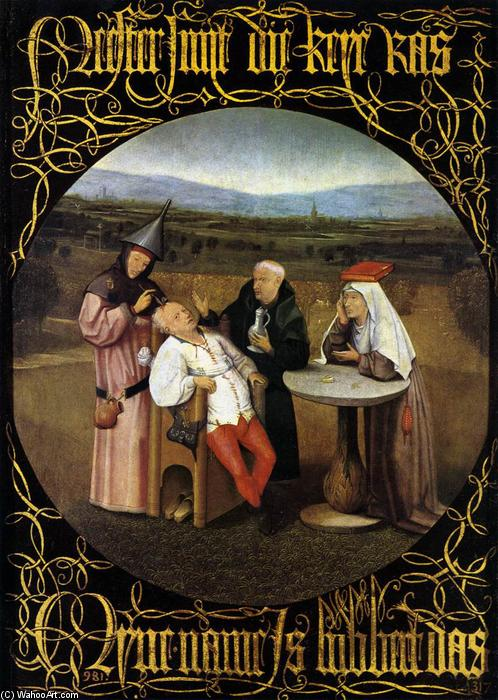 The Cure of Folly (Extraction of the Stone of Madness), 1475 by Hieronymus Bosch (1450-1516, Netherlands) | WahooArt.com