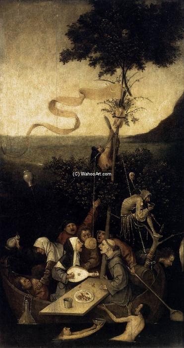 The Ship of Fools, 1500 by Hieronymus Bosch (1450-1516, Netherlands) | Oil Painting | WahooArt.com