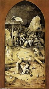 Hieronymus Bosch - Triptych of Temptation of St Anthony (outer left wing)