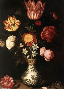 Ambrosius Bosschaert The Elder - Still-Life with Flowers in a Wan-Li vase