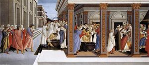 Sandro Botticelli - Baptism of St Zenobius and His Appointment as Bishop