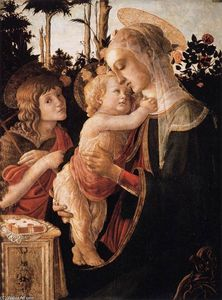 Sandro Botticelli - Virgin and Child with Young St John the Baptist