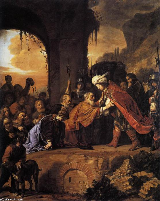 Order Painting Copy : Joseph Receives His Father and Brothers in Egypt, 1655 by Salomon De Bray (1597-1664, Netherlands) | WahooArt.com