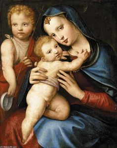 Andrea Del Brescianino - Madonna and Child with the Infant St John the Baptist