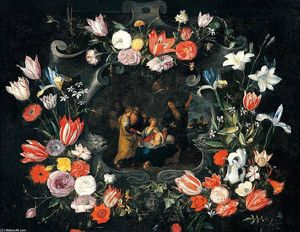Jan The Younger Brueghel - Still-Life of the Holy Kinship