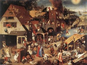 Pieter Bruegel The Younger - Netherlandish Proverbs
