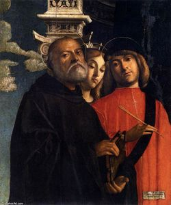 Giovanni Buonconsiglio - Sts Benedict, Thecla, and Damian