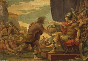 Giuseppe Cades - Alexander the Great Refuses to Take Water