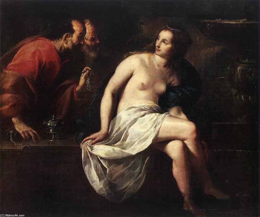 Susanna and the Elders by Guido Cagnacci (1601-1663, Italy) | Art Reproductions Guido Cagnacci | WahooArt.com