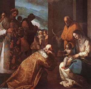 Eugenio Cajes - The Adoration of the Magi