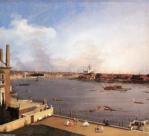 Giovanni Antonio Canal (Canaletto) - London: The Thames and the City of London from Richmond House