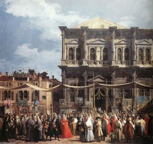 Giovanni Antonio Canal (Canaletto) - The Feast Day of St Roch (detail)