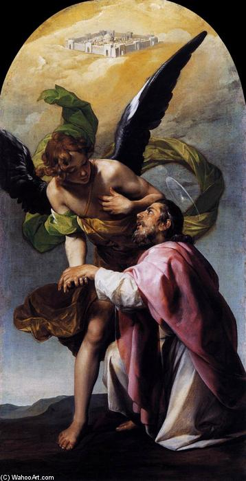 Saint John the Evangelist`s Vision of Jerusalem, 1636 by Alonso Cano (1601-1667, Spain) | Paintings Reproductions Alonso Cano | WahooArt.com
