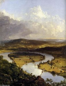 Thomas Cole - View from Mount Holyoke, Northamptom, Massachusetts, after a Thunderstorm (detail)