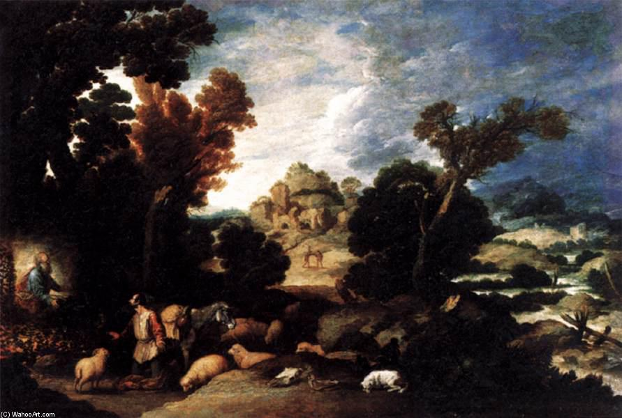 The Burning Bush, 1634 by Francisco Collantes (1599-1656, Spain) | Paintings Reproductions Francisco Collantes | WahooArt.com