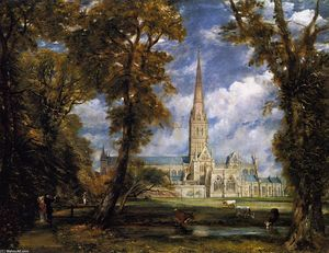 John Constable - Salisbury Cathedral from the Bishop's Grounds