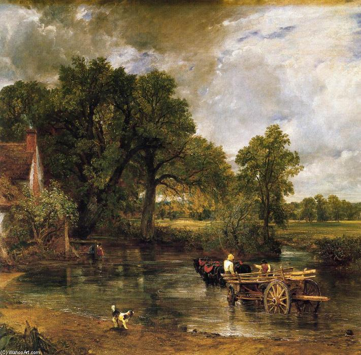 Order Museum Quality Copies | The Hay-Wain (detail), 1821 by John Constable (1776-1837, United Kingdom) | WahooArt.com