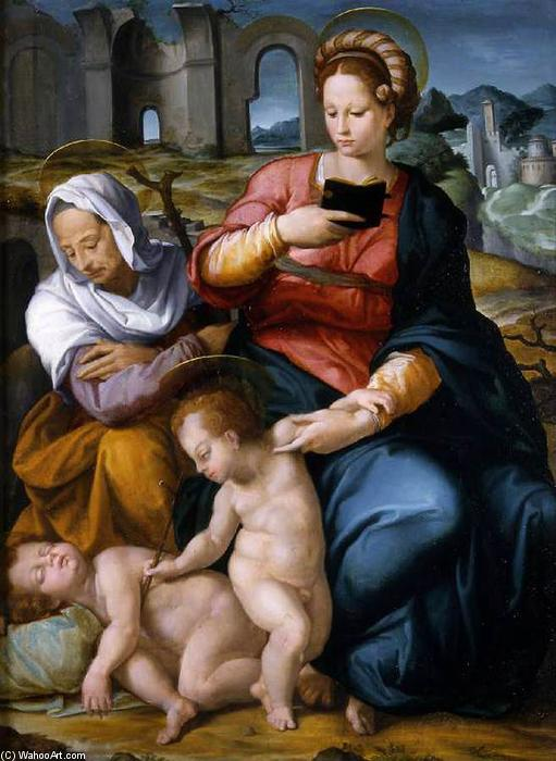 Virgin and Child with St Elizabeth and the Infant Baptist, 1550 by Jacopino Del Conte (1510-1598, Italy) | Art Reproductions Jacopino Del Conte | WahooArt.com