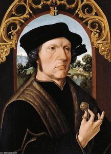 Jacob Cornelisz Van Oostsanen - Portrait of a Man