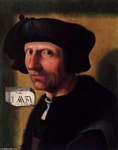 Jacob Cornelisz Van Oostsanen - Self-Portrait