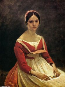 Jean Baptiste Camille Corot - Young Woman (Madame Legois)