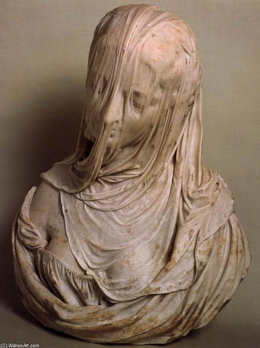 Bust of a Veiled Woman (Puritas), 1717 by Antonio Corradini (1668-1752, Italy) | Oil Painting | WahooArt.com
