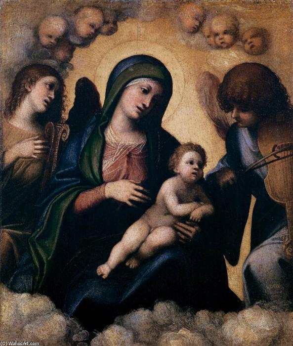 Madonna and Child in Glory, 1510 by Antonio Allegri Da Correggio (1489-1534, Italy) | Famous Paintings Reproductions | WahooArt.com
