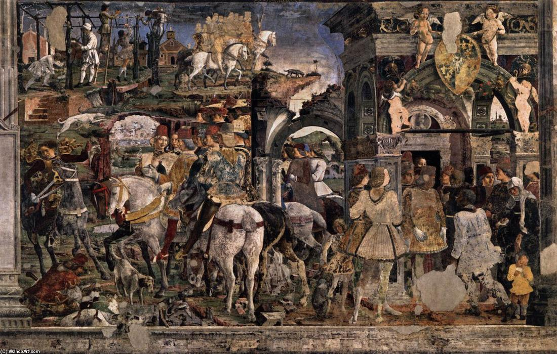 Allegory of March: Triumph of Minerva (detail) (12), 1476 by Francesco Del Cossa (1436-1477, Italy) | WahooArt.com