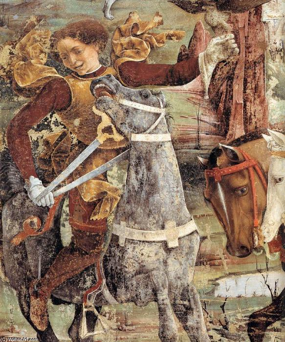 Allegory of March: Triumph of Minerva (detail) (13), Frescoes by Francesco Del Cossa (1436-1477, Italy)