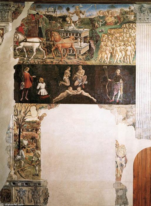 Allegory of May: Triumph of Apollo, Frescoes by Francesco Del Cossa (1436-1477, Italy)