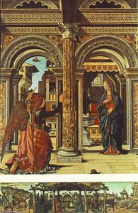 Francesco Del Cossa - Annunciation and Nativity (Altarpiece of Observation)