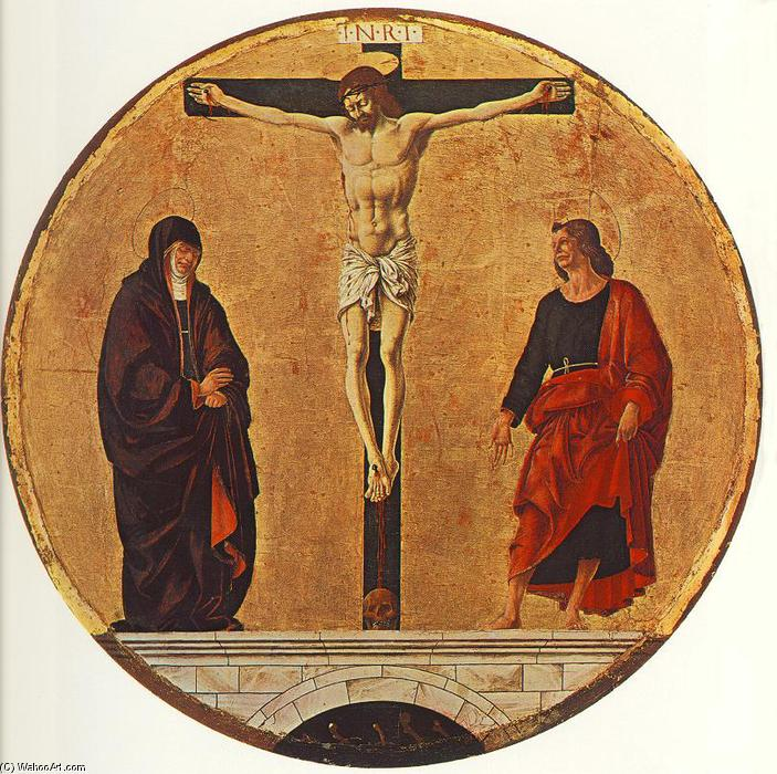 Order Museum Quality Reproductions : Griffoni Polyptych: The Crucifixion, 1473 by Francesco Del Cossa (1436-1477, Italy) | WahooArt.com