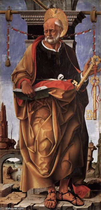 St Peter, Tempera by Francesco Del Cossa (1436-1477, Italy)