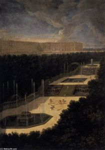 Order Art Reproductions | View of the Three-Fountain Grove, 1688 by Jean Ii Cotelle (1642-1708, France) | WahooArt.com
