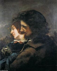 Gustave Courbet - Lovers in the Countryside