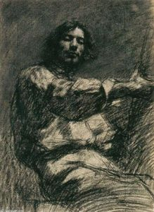 Gustave Courbet - Seated Young Man