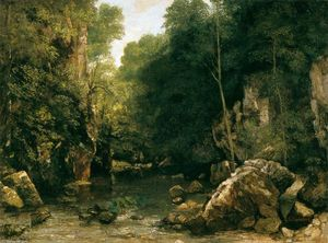 Gustave Courbet - The Shaded Stream (or The Puits Noir Stream)