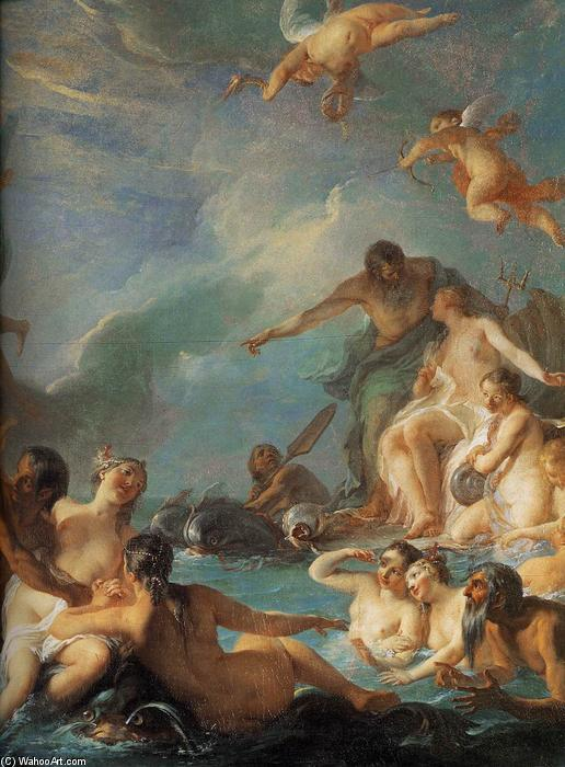 Order Paintings Reproductions | The Rape of Europa (detail), 1727 by Noel Nicolas Coypel (1628-1707, France) | WahooArt.com