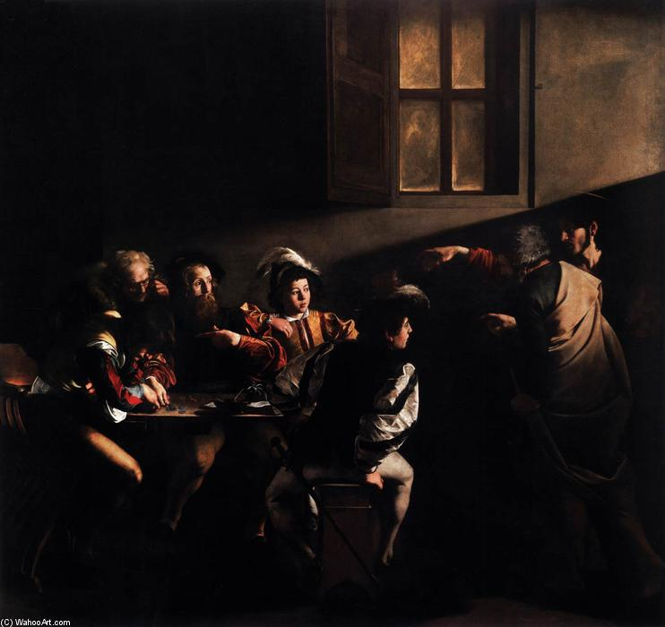 The Calling of Saint Matthew, 1599 by Caravaggio (Michelangelo Merisi) (1571-1610, Spain) | Reproductions Caravaggio (Michelangelo Merisi) | WahooArt.com