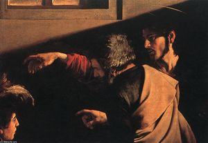 Caravaggio (Michelangelo Merisi) - The Calling of Saint Matthew (detail) (13)