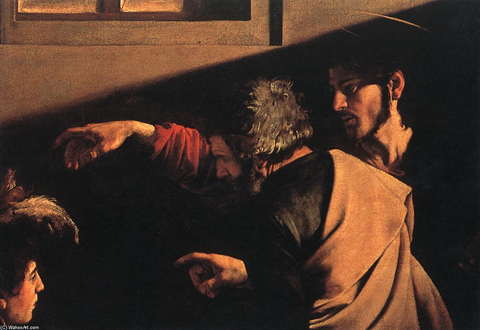 The Calling of Saint Matthew (detail) (13), Oil On Canvas by Caravaggio (Michelangelo Merisi) (1571-1610, Spain)