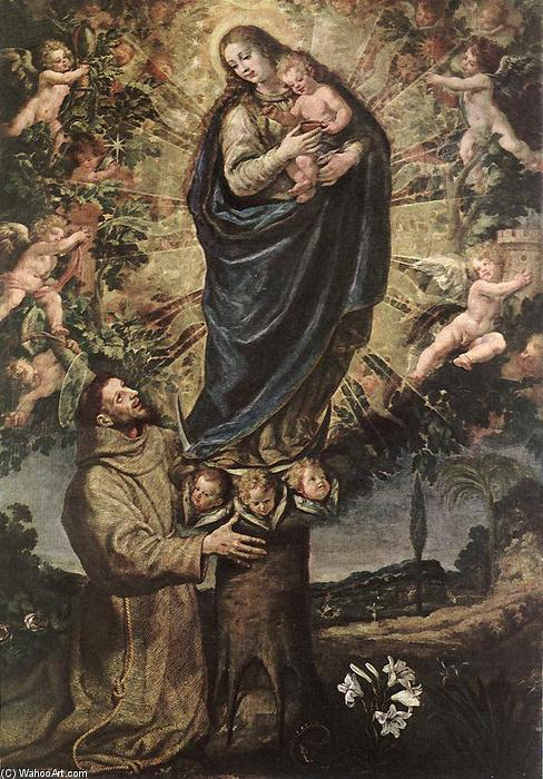 Vision of St Francis of Assisi, Oil On Canvas by Vicente Carducho (1576-1638, Italy)