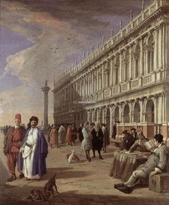 Luca Carlevaris - The Piazzetta and the Library