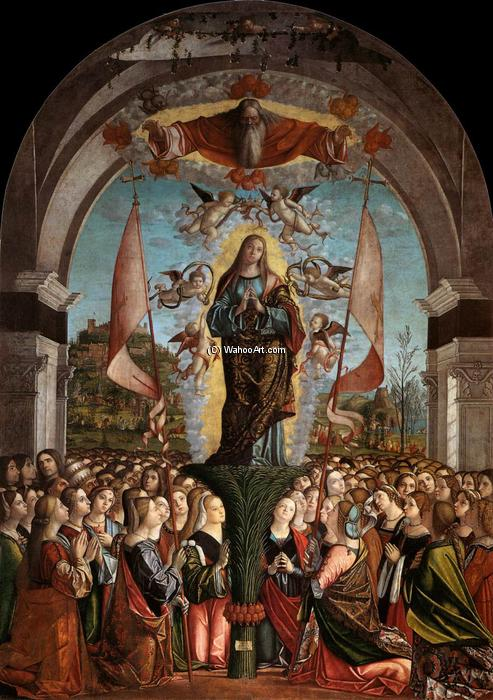 Apotheosis of St Ursula, 1491 by Vittore Carpaccio (1465-1526, Italy) | Oil Painting | WahooArt.com