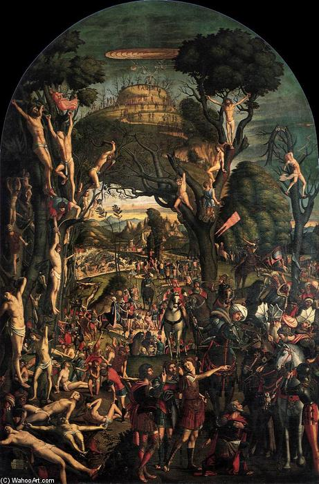 Crucifixion and Apotheosis of the Ten Thousand Martyrs, Oil On Canvas by Vittore Carpaccio (1465-1526, Italy)