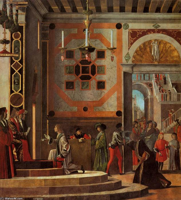 The Ambassadors Depart, 1495 by Vittore Carpaccio (1465-1526, Italy) | Famous Paintings Reproductions | WahooArt.com