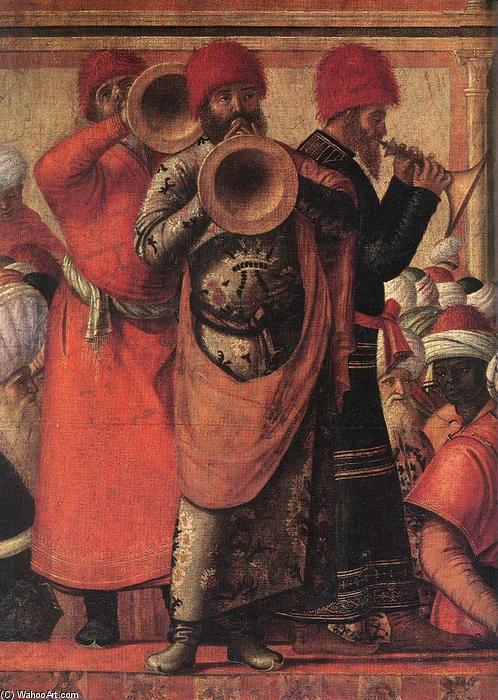 Buy Art Reproduction The Baptism of the Selenites (detail), 1507 by Vittore Carpaccio (1465-1526, Italy) | WahooArt.com | Order Painting Copy The Baptism of the Selenites (detail), 1507 by Vittore Carpaccio (1465-1526, Italy) | WahooArt.com