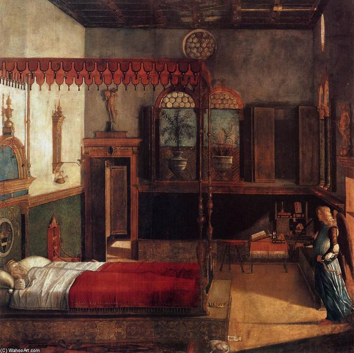 The Dream of St Ursula, Tempera by Vittore Carpaccio (1465-1526, Italy)